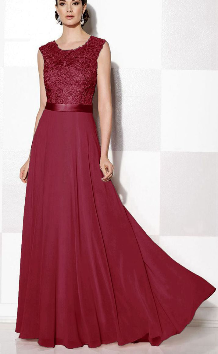 Gracie Grace berry cranberry wine burgundy red Lace Bridesmaid Evening Prom Dress UK