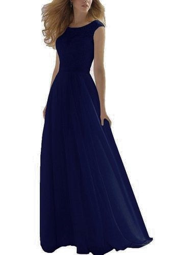 hayley dark navy blue lace chiffon long bridesmaid wedding bridal prom dress loulous bridal boutique ltd ukrom