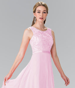 Heather Pale light baby pink Lace chiffon long bridesmaid wedding bridal prom evening dress uk