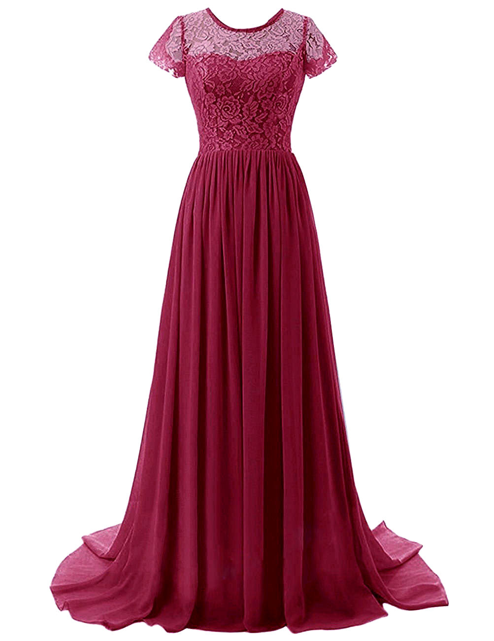 Helena berry burgundy short sleeved lace chiffon long bridesmaid wedding prom evening dress loulous bridal boutique ltd uk