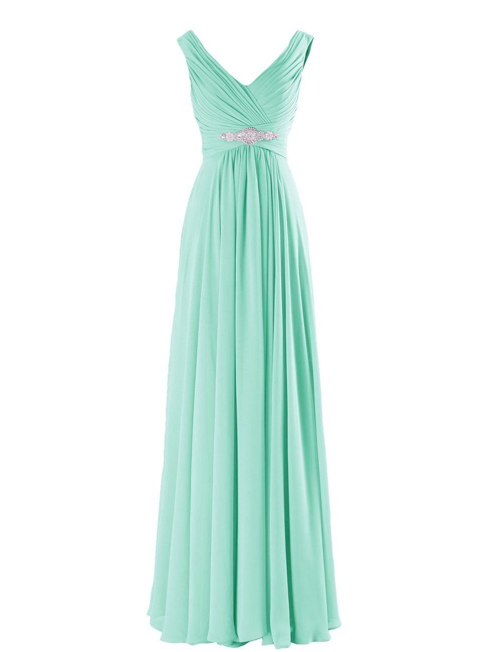 Henley Mint Peppermint Pale Green Grecian Chiffon long bridesmaid wedding bridal evening prom cruise ballgown formal occasion dress uk Pastel