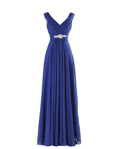 Henley Royal Blue Sapphire Cobalt Grecian Chiffon long bridesmaid wedding bridal evening prom cruise ballgown formal occasion dress uk