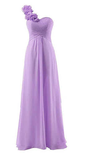 Isla Asha Aisha One Shouldered Corsage Long Bridesmaid wedding bridal prom evening ballgown formal occasion dress Loulous Bridal Boutique UK