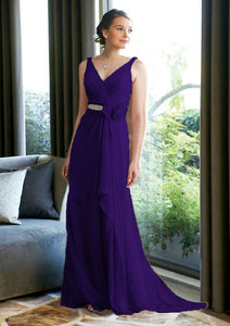 Isobel cadbury purple long beaded bridesmaid prom evening dress uk loulous bridal boutique ltd
