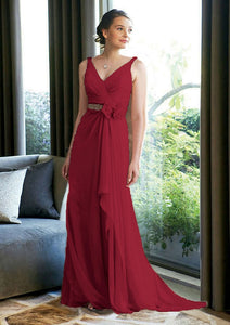 Isobel berry burgundy chiffon beaded sequin corsage long bridesmaid wedding bridal dress loulous bridal boutique uk