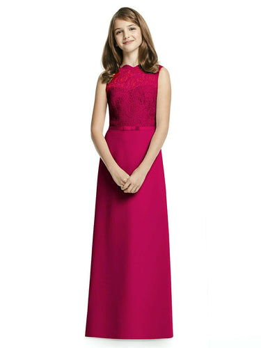IVY cerise fuchsia hot pink LACE CHIFFON LONG JUNIOR BRIDESMAID FLOWER GIRL PARTY DRESS LOULOUS BRIDAL BOUTIQUE UK