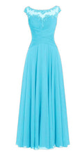 Jessica Beau Melanie Aqua Spa Blue Turquoise Lace Chiffon Pleated Long Bridesmaid Wedding Bridal Prom Evening Dress UK