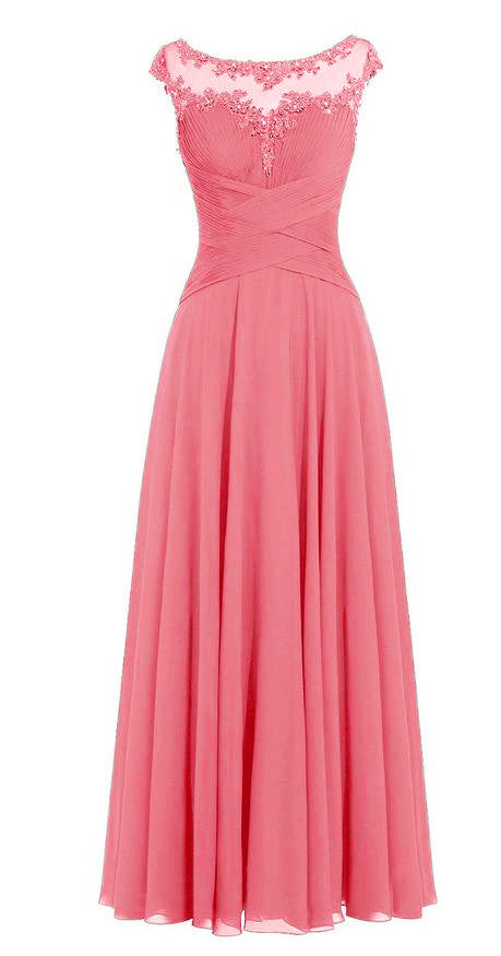 Jessica Beau Melanie Coral Orange Lace Chiffon Pleated Long Bridesmaid Wedding Bridal Prom Evening Dress UK