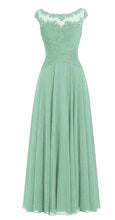 Bamboo Sage Green Chiffon Lace Long Bridesmaid Wedding Prom Evening Formal Maxi Occasion Dress UK