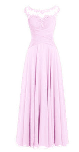 Jessica pale light baby pink Chiffon Lace Long Bridesmaid Wedding Prom Evening Formal Maxi Occasion Dress UK