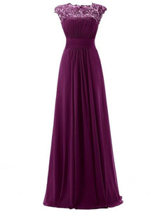 Kelis Katie eggplant aubergine purple lace chiffon long bridesmaid wedding bridal evening ballgown prom dress loulous bridal boutique uk