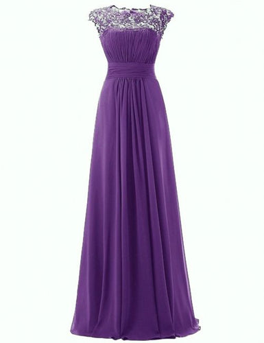 Kelis Katie cadbury purple lace chiffon long bridesmaid wedding bridal evening ballgown prom dress loulous bridal boutique uk
