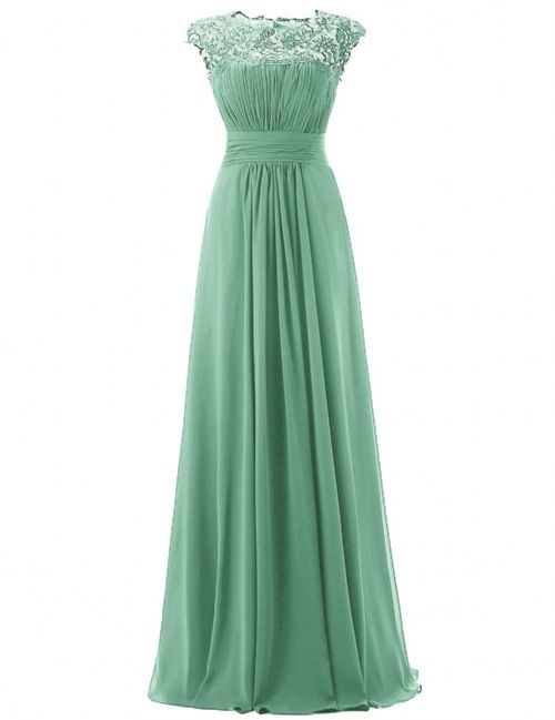 Kelis Katie bamboo sage green lace chiffon long bridesmaid wedding bridal evening ballgown prom dress loulous bridal boutique uk