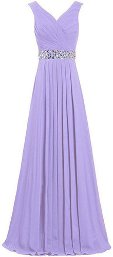 Leah lilac mauve lavender purple grecian crystal beaded long bridesmaid wedding bridal evening ballgown prom dress uk Loulous Bridal Boutique