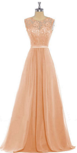 Lucy Apricot Orange lace chiffon long bridesmaid wedding bridal prom evening dress loulous bridal boutique ltd uk