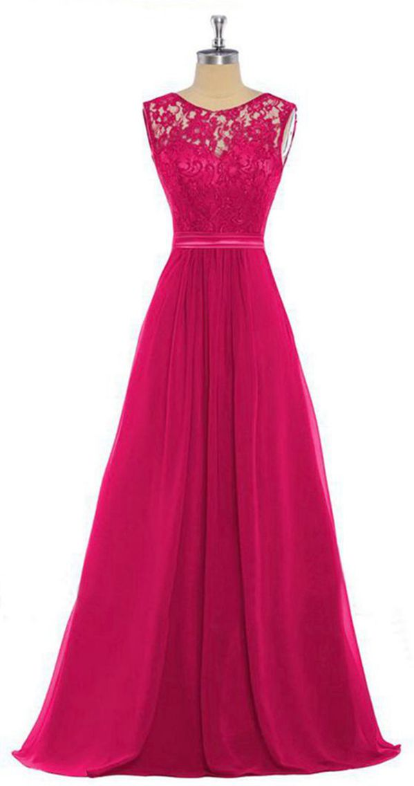 Lucy April Fuchsia Hot Pink Cerise Lace Chiffon Long Bridesmaid Wedding Bridal Prom Evening Ballgown Formal Occasion Cruise Dress UK Loulous Bridal Boutique