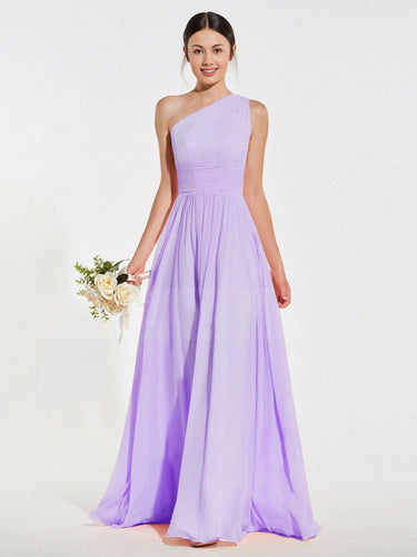 Lindsey lilac mauve  one shoulder long maxi bridesmaid grecian wedding bridal prom evening dress loulous bridal boutique