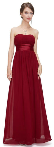 SALE -  Louise Strapless Dress  - Burgundy
