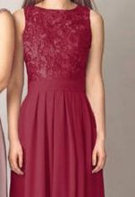 lydia burgundy lace chiffon bridesmaid evening dress uk loulous bridal boutique ltd