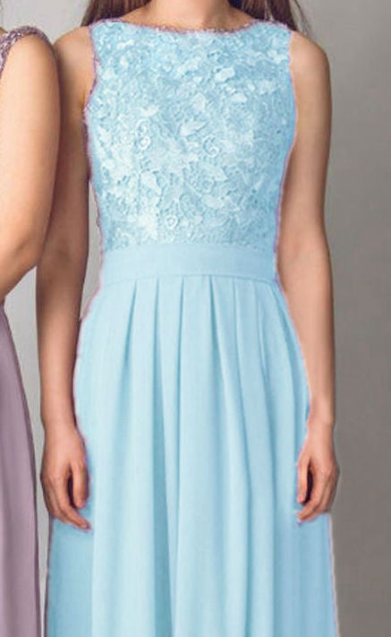 Lydia light pale blue lace bridesmaid wedding prom cruise evening ballgown dress loulous bridal boutique ltd