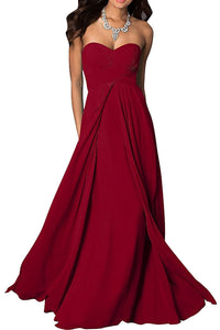 madison berry red burgundy cranberry chiffon strapless long maxi bridesmaid wedding bride bridal prom ballgown evening formal occasion dress uk