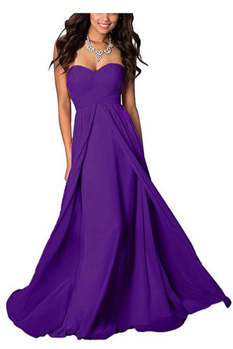 madison cadbury purple chiffon strapless long maxi bridesmaid wedding bride bridal prom ballgown evening formal occasion dress uk