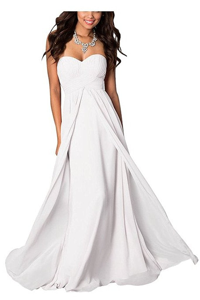 Madison White Strapless Bridesmaid Wedding Bridal Prom Ballgown Dress UK