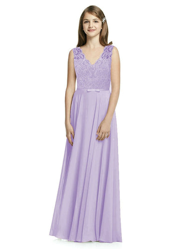 Lilac mauve purple  meghan lace chiffon vneck junior flower girl bridesmaid dress loulous bridal boutique ltd