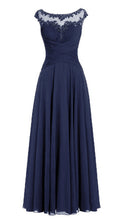 Jessica Beau Melanie Dark Midnight Navy Blue Lace Chiffon Pleated Long Bridesmaid Wedding Bridal Prom Evening Dress UK
