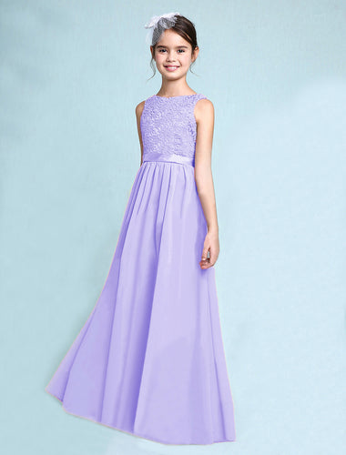 Melody Lilac Mauve Lavender chiffon lace flowergirl junior bridesmaid wedding bridal party special occasion dress UK Loulous Bridal Boutique