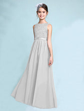 Melody  silver grey  lace chiffon long sleeveless junior bridesmaid flowergirl dress loulous bridal boutique uk