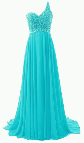 Naomi Pandora  aqua spa blue turquoise silver sequin one shoulder prom ballgown evening bridesmaid wedding bridal dress uk