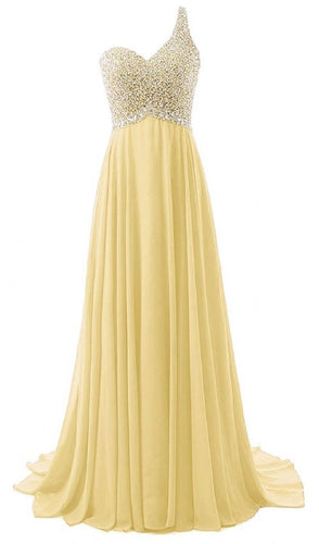 Naomi Pandora  lemon yellow silver sequin one shoulder prom ballgown evening bridesmaid wedding bridal dress uk