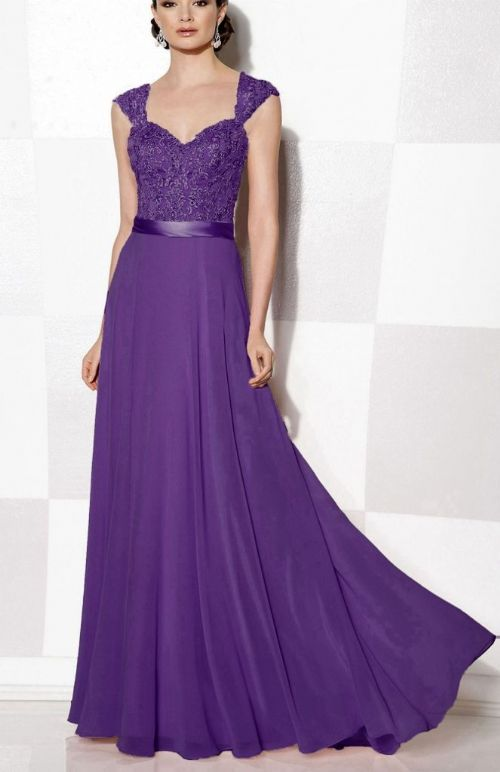 Olivia Cadbury Purple lace chiffon long bridesmaid wedding bridal prom evening dress uk loulous bridal boutique