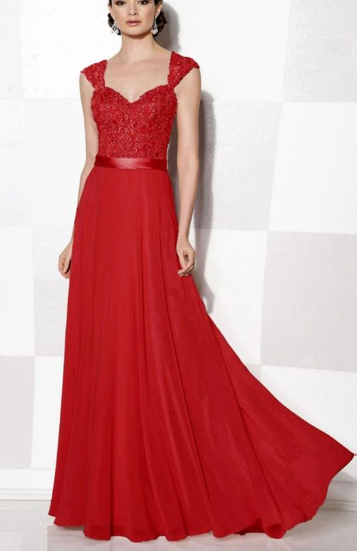 Olivia Red Scarlet Crimson lace chiffon beaded bridesmaid wedding bridal dress prom loulous bridal boutique uk