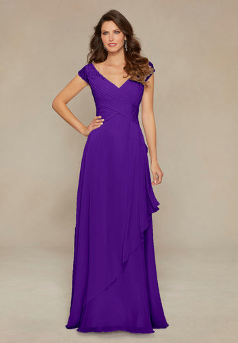 Paige Cadbury Purple Long Beaded V Neck Bridesmaid Wedding Bridal Prom Evening Dress UK  Loulous Bridal Boutique