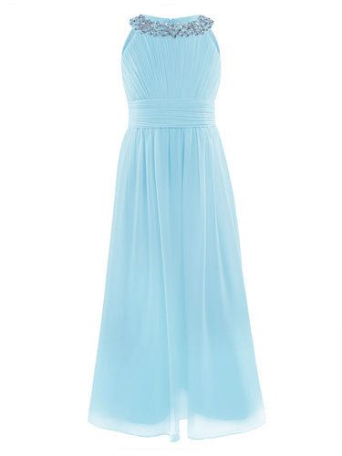 Jemima pale light blue  junior bridesmaid flower girl dress loulous bridal boutique ltd uk