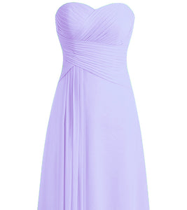 Palma lilac  purple pleat strapless long bridesmaid evening wedding bridal prom dress loulous bridal boutique ltd uk