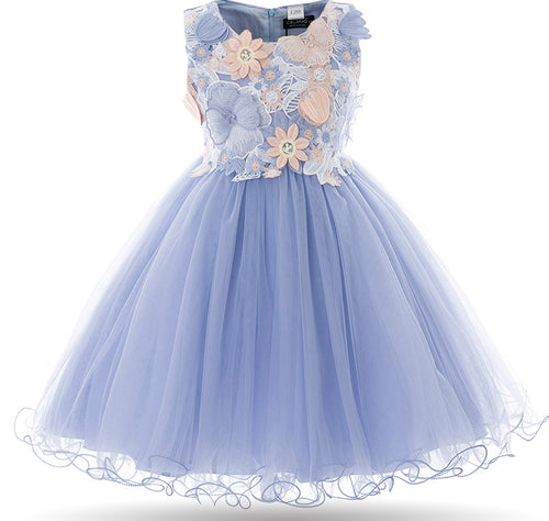 Petal - Blue Girls Dress