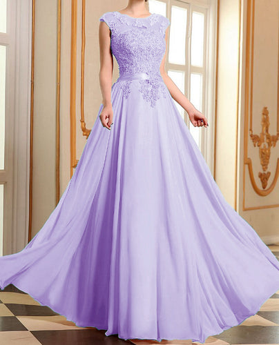 Ruby lilac purple lace chiffon long bridesmaid prom evening wedding bridal dress loulous bridal boutique ltd uk