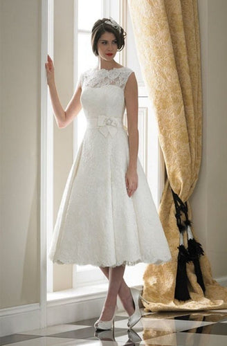 Sonia - Tea Length Lace Wedding Dress