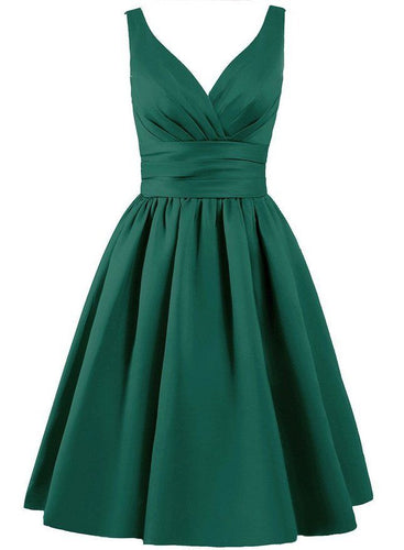bridget dark forest green satin short 50s vintage inspired bridesmaid dress loulous bridal boutique ltd uk