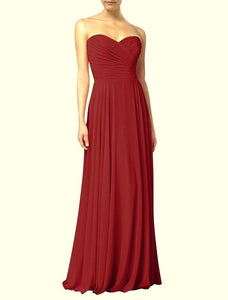 Faye Burgundy Strapless Long Bridesmaid Wedding Bridal Evening Prom Ballgown Dress UK loulous bridal boutique ltd