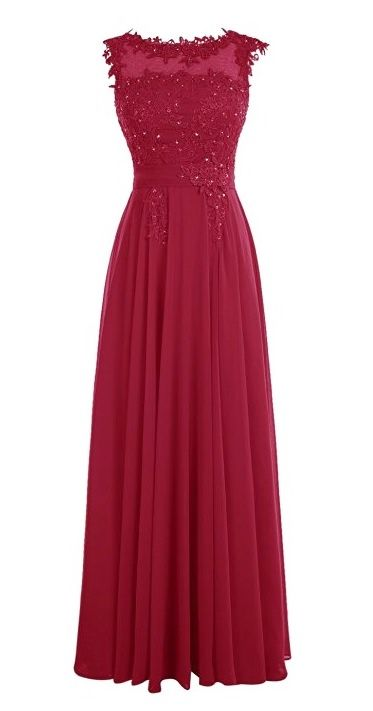 Francesca Berry Burgundy Lace Chiffon Long Bridesmaid Wedding Bridal Evening Prom Cocktail Dress UK