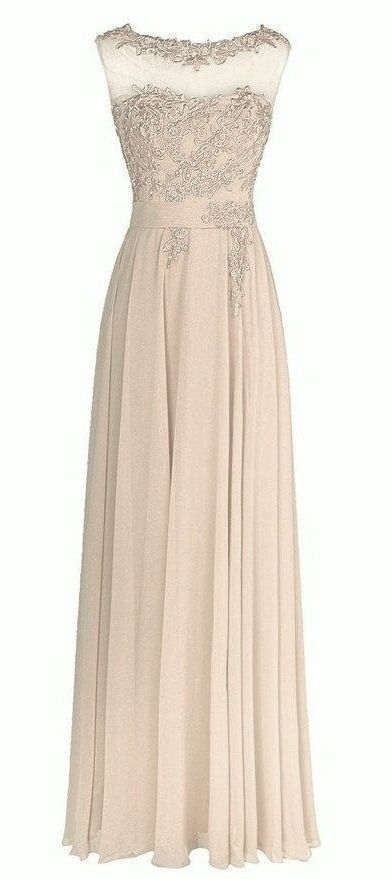 Francesca Champagne Cream Ivory Lace Chiffon Long Bridesmaid Wedding Bridal Evening Prom Cocktail Dress UK