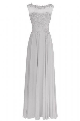 Francesca - Silver Grey (Sample Dress - In Stock)
