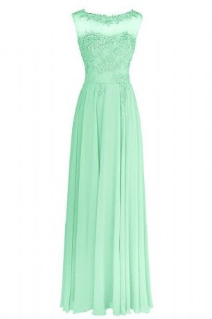Francesca Mint Pale Light Peppermint Green Lace Chiffon Long Bridesmaid Wedding Bridal Evening Prom Cocktail Dress UK