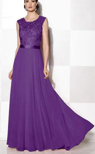 Gracie Grace cadbury purple Lace Bridesmaid Evening Prom Dress UK