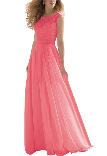 hayley coral orange  lace chiffon long bridesmaid wedding bridal prom dress loulous bridal boutique ltd ukrom