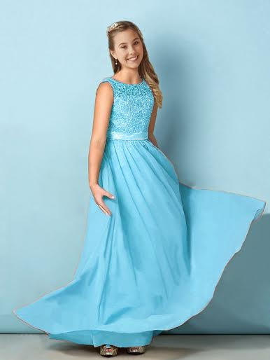 Heidi aqua spa turquoise blue lace chiffon bridesmaid junior flower girl dress loulous bridal boutique ltd uk